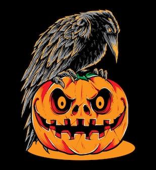 Raven pumpkins