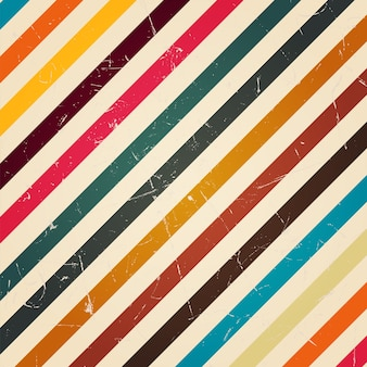 Raya colorida retro con filtro grunge