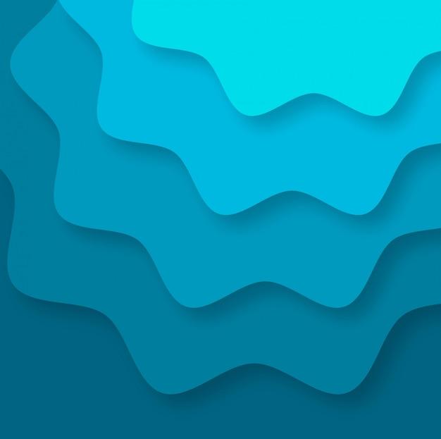 Rayas abstractas fondo colorido papercut