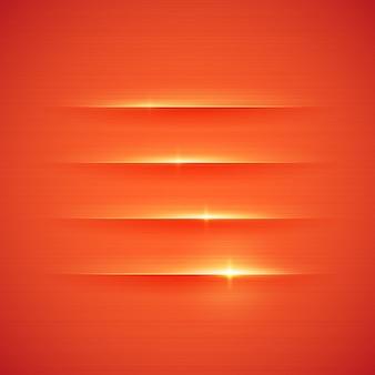Rayas brillantes sobre fondo rojo. ilustración.