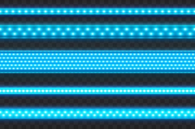 Rayas de led azul brillante sin costura