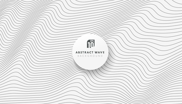 Rayas negras abstractas línea patrón ondulado sobre fondo blanco.