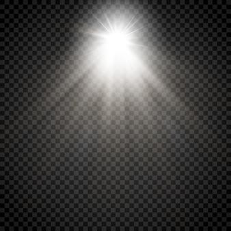 Rayo de estrella brillante
