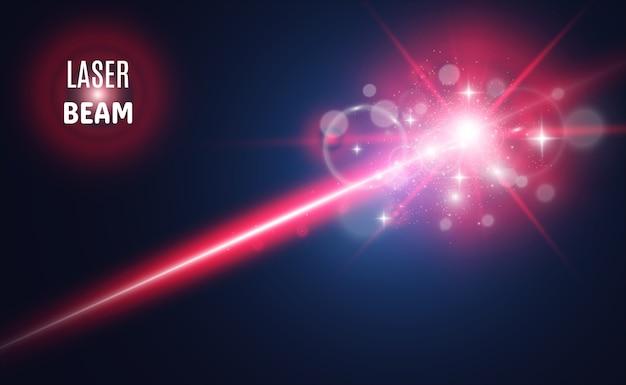 Rayo láser abstracto transparente aislado en la ilustración de fondo negro
