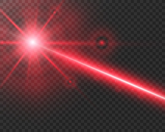 Rayo láser abstracto. transparente aislado sobre fondo negro. ilustración vectorial