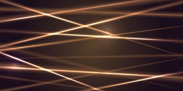 Rayo de luz láser dorado