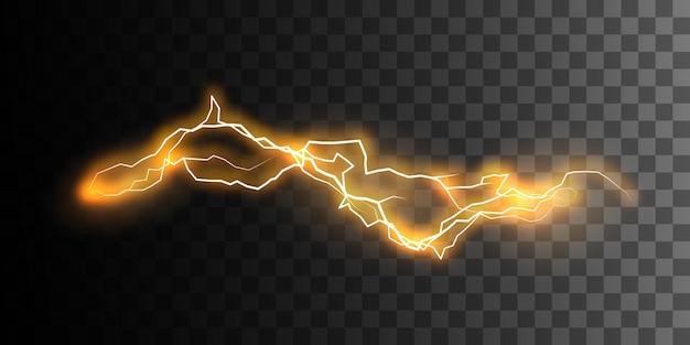 Rayo o explosión de electricidad aislado