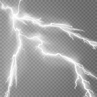 Rayo relámpago luz trueno chispas ilustración