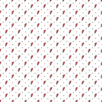 Rayo rojo de patrones sin fisuras estilo de la vieja escuela