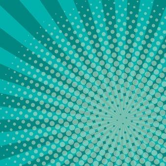 Rayos de fondo de medios tonos de color azul