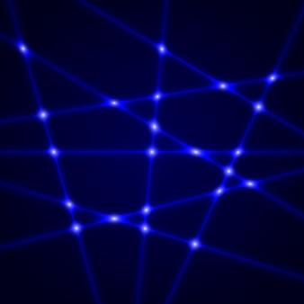 Rayos láser azules. efecto de luz.