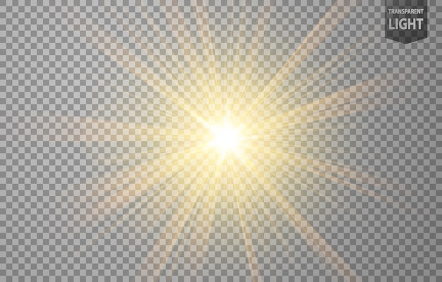 Rayos de oro abstractos brillan