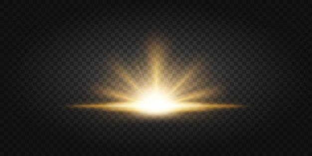 Rayos de oro subiendo sobre fondo oscuro