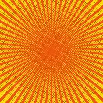 Rayos de sol brillante con puntos amarillos