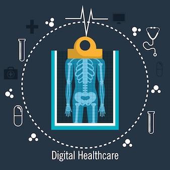 Rayos x digital medico medico aislado