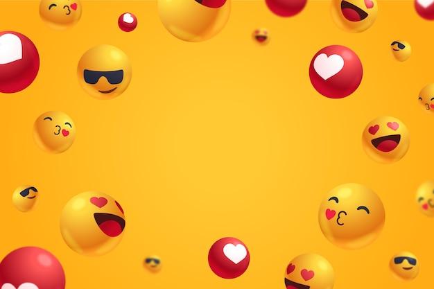 Reacciones positivas con fondo de espacio vacío