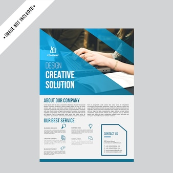 Real estate flyer backgroun template a4 paper size