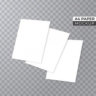 Realista 3d apila papel maqueta