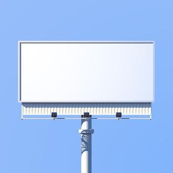 Realista 3d cartel de publicidad al aire libre signo