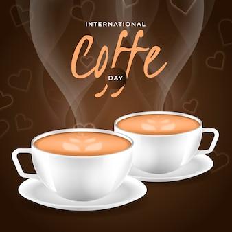 Realista día internacional del café.