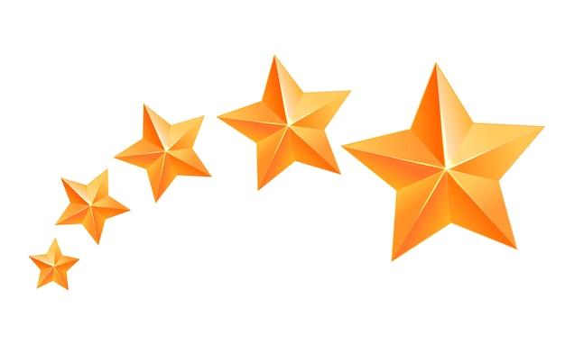 Realista estrella de oro 3d. ganador del premio. cinco estrellas de oro. buen trabajo. mejor recompensa estrella de cobre a granel. sencillo 5 estrellas. el premio a la mejor elección. clase premium.