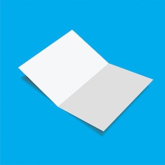 Realista plantilla de maqueta de vector en blanco.