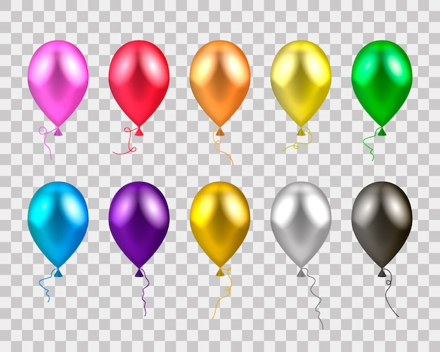 Realistas globos de colores.