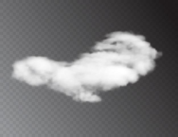 Realistas nubes blancas 3d aisladas