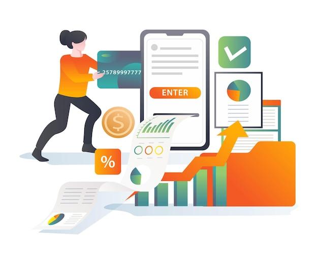 Realización de inversiones y pagos online