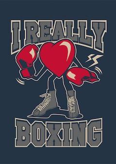 Realmente me encanta el boxeo