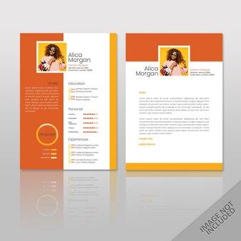 Reanudar orange square print listo