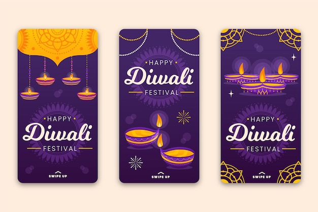 Rebajas instagram story collection diwali event