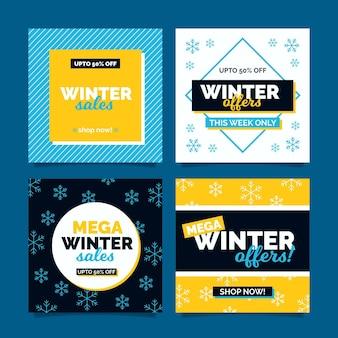 Rebajas de invierno publicaciones de instagram