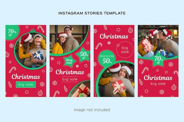 Rebajas de navidad colección de historias de instagram