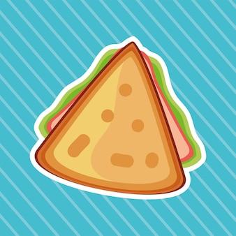 Rebanada sándwich de comida rápida fresca