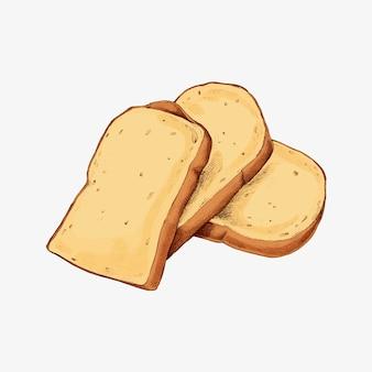 Rebanadas de pan blanco fresco