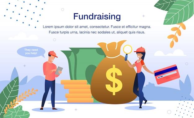 Recaudación de fondos para necesidades de caridad