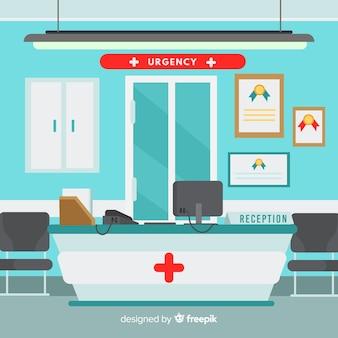 Recepción de hospital moderno