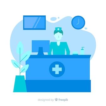 Recepción de hospital