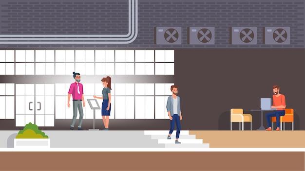 Recepción del hotel y lobby interior con carácter