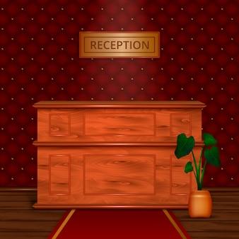 Recepción recepción hotel interior realista