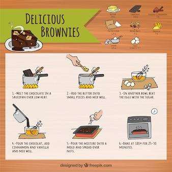 Receta de brownies deliciosos
