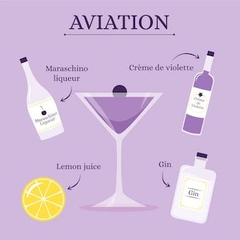 Receta de cóctel de aviación