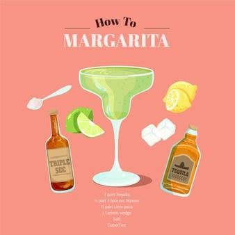 Receta de cóctel margarita