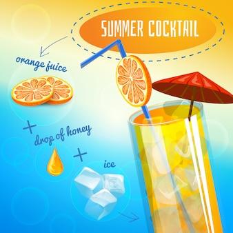 Receta de cóctel de verano