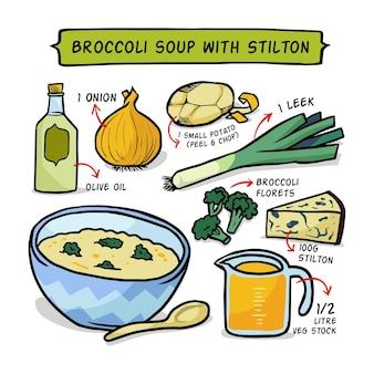 Receta saludable para sopa de brócoli