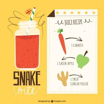 Receta de zumo de manzana y zanahoria