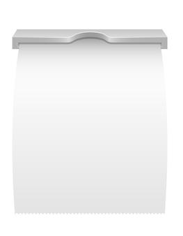 Recibo impreso de la ilustración del cajero automático aislado en blanco