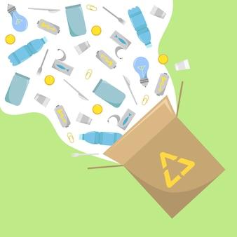 Reciclaje de residuos. eco amigable con los negocios guardar la naturaleza