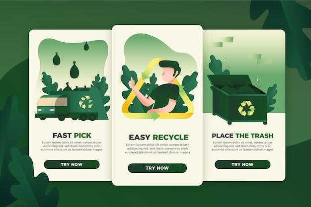 Reciclar colección de pantallas de aplicaciones de incorporación